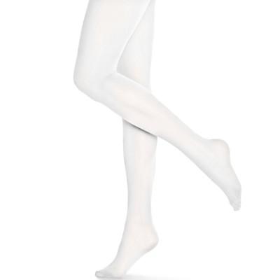 Dámské a dívčí bílé punčocháče DRAHA