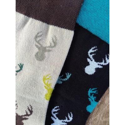 Barevné ponožky JELEN