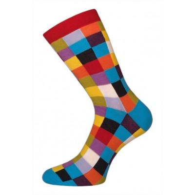 Barevné ponožky pro muže KOSTKA